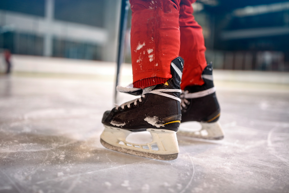Ice skating in Claresholm, AB, one of the windiest cities in Canada