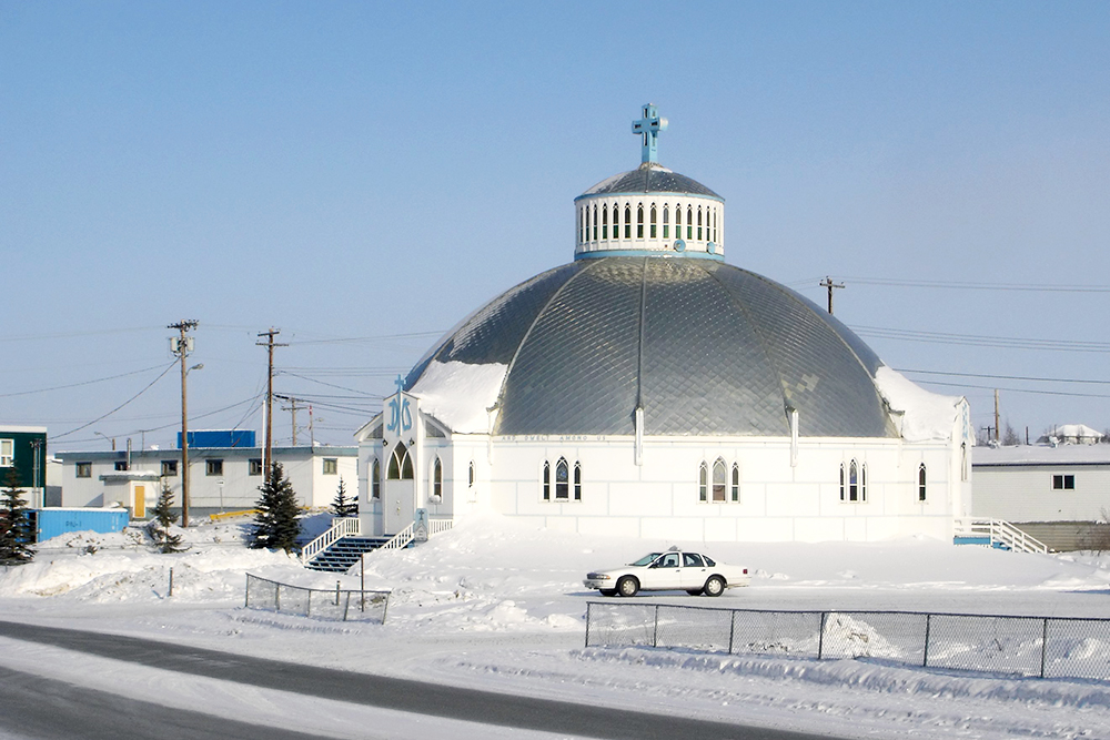 The Igloo Church in Inuvik, NT, the coldest small city in Canada