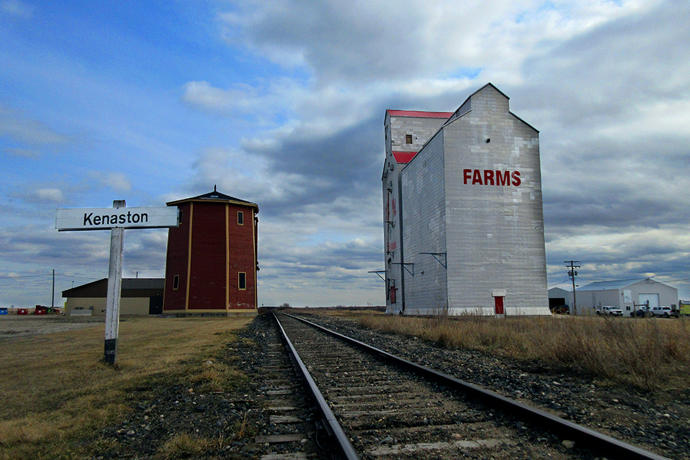 A farm in Kenaston, SK, which is among the windiest places in Canada