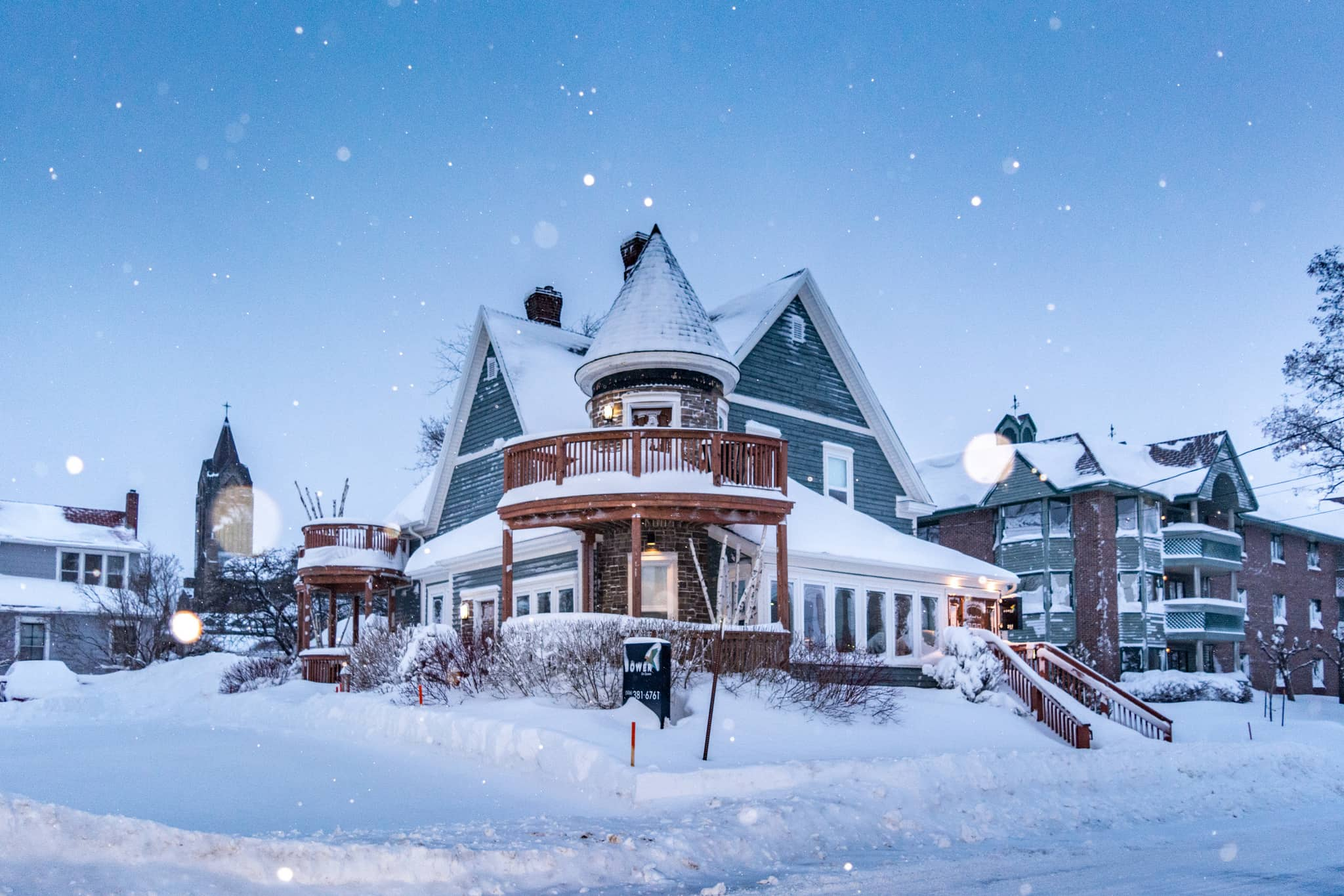 A snow-covered house in Moncton, NB, which is among Canada's snowiest places