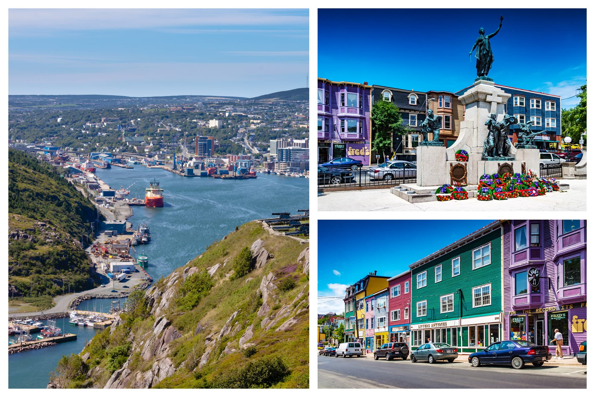 Views of the shoreline and downtown St. John's, Newfoundland and Labrador