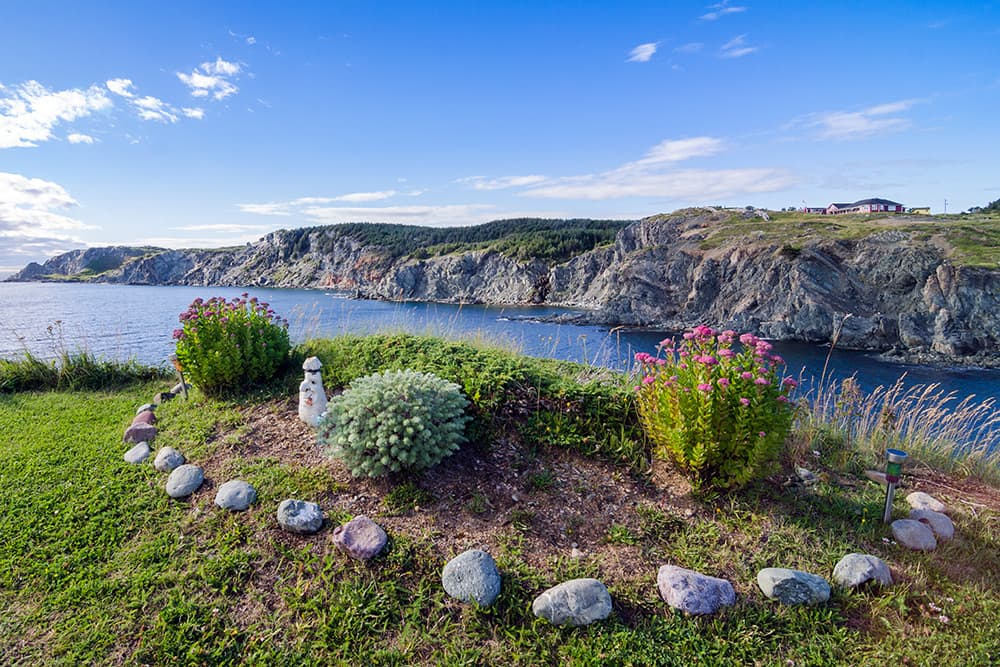 Garden by the water in Twilingate, Newfoundland and Labrador