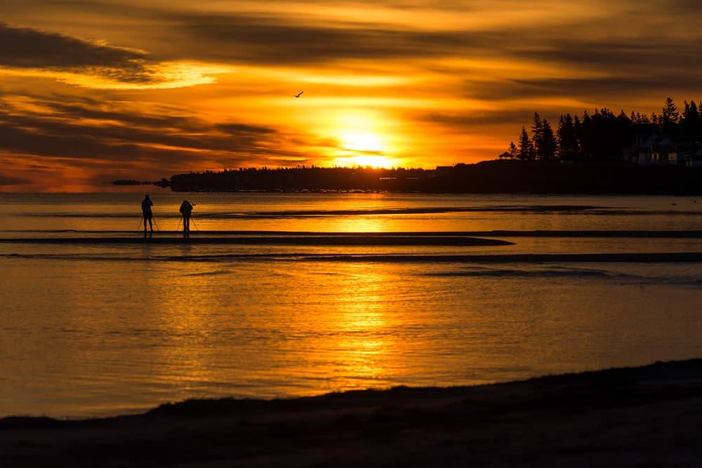 Dusk over the waters of Parlee Beach, Shediac, New Brunswick
