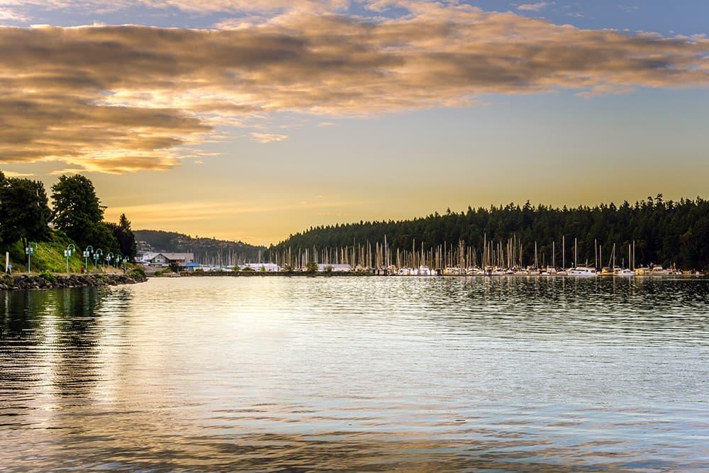 Calm waters at Nanaimo, British Columbia, harbor