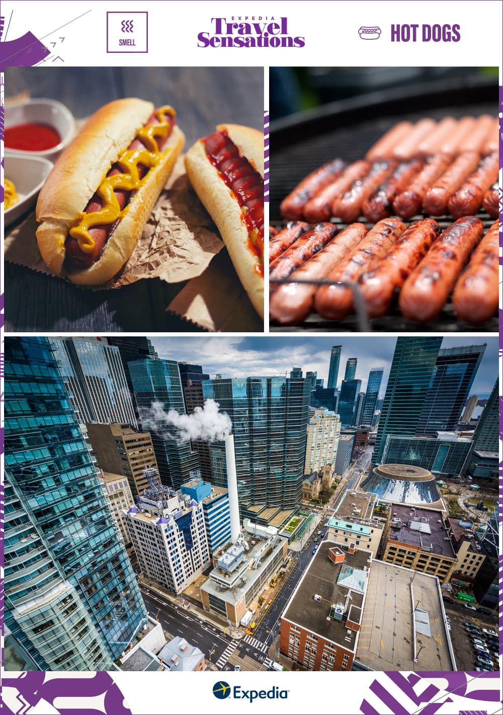 grilling hot dogs in Canada