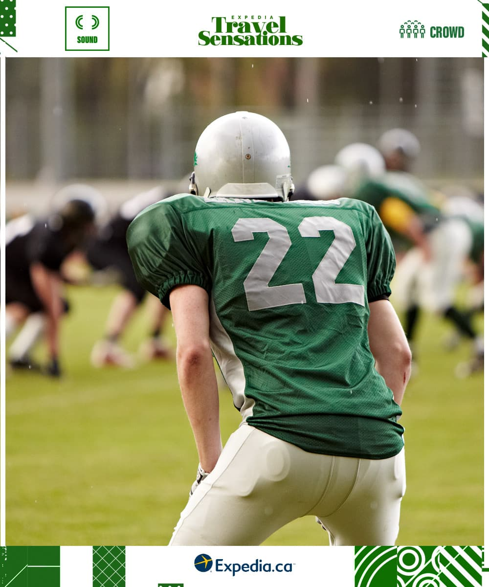 football player in green