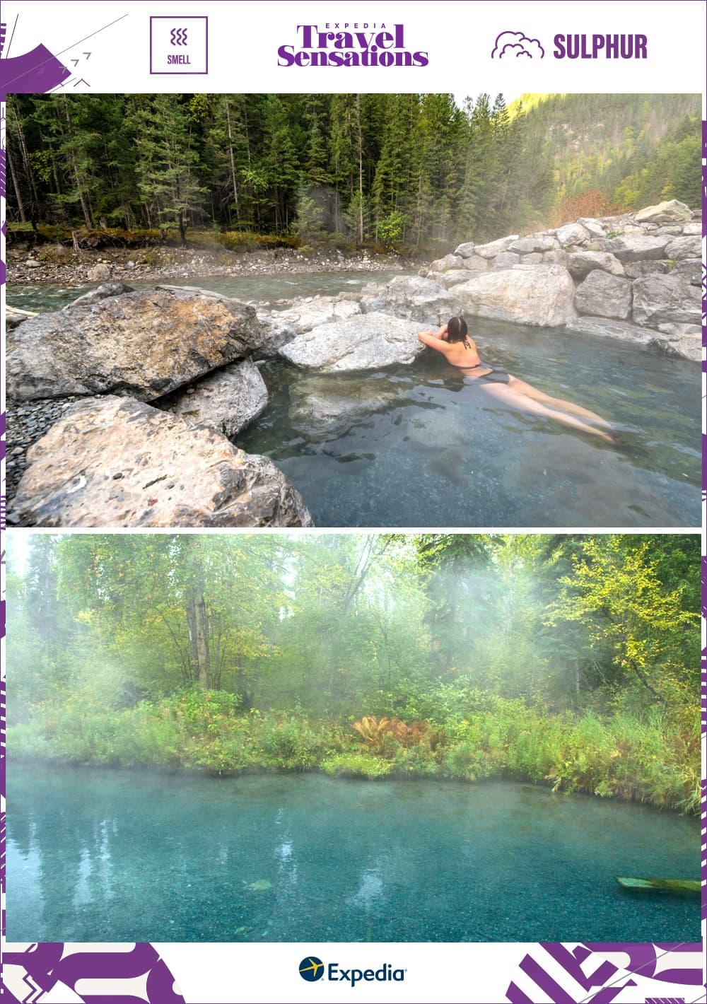 soaking in Canadian hot springs