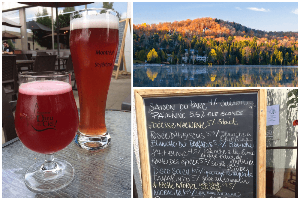 Beers and scenery in Laurentides Quebec