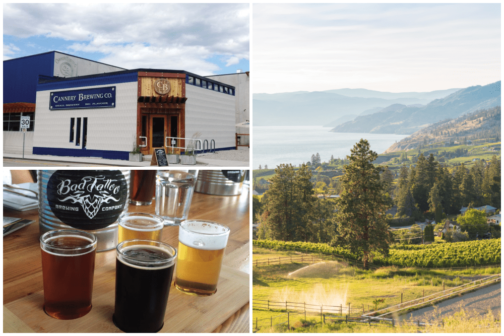 Breweries in Penticton, British Columbia, and a scenic view