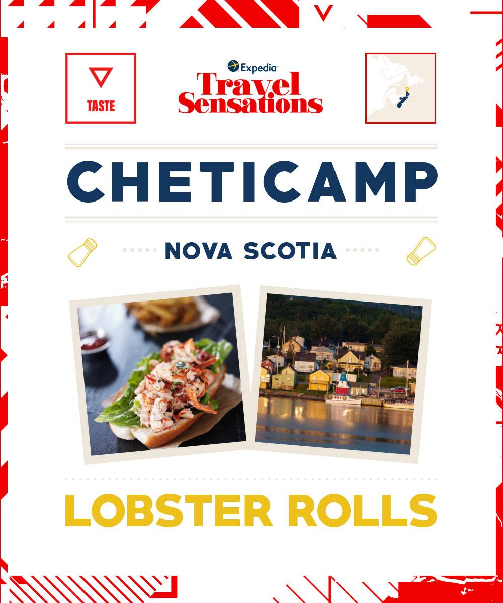 The top flavours in Cheticamp, Nova Scotia