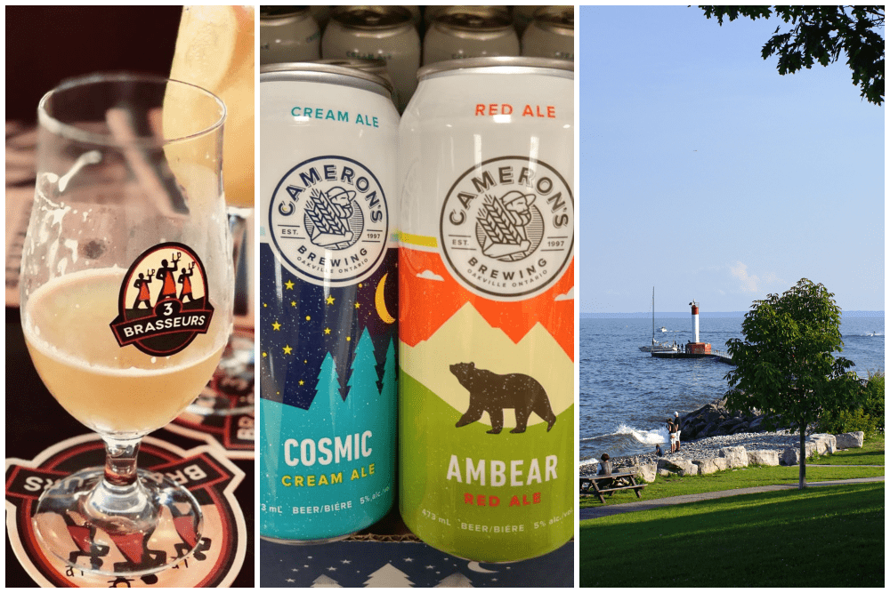 Oakville, Ontario, beers and the Oakville lighthouse
