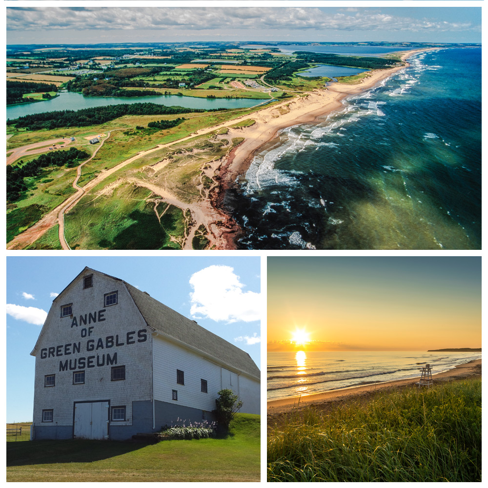Landmarks of Cavendish Beach, a top destination for Baby Boomers