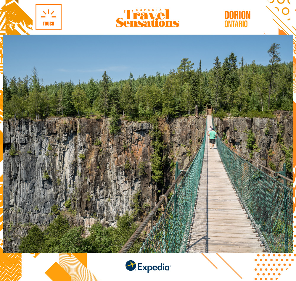 The Eagle Canyon Suspension Bridge in Dorion, Ontario--a place that will give you goosebumps