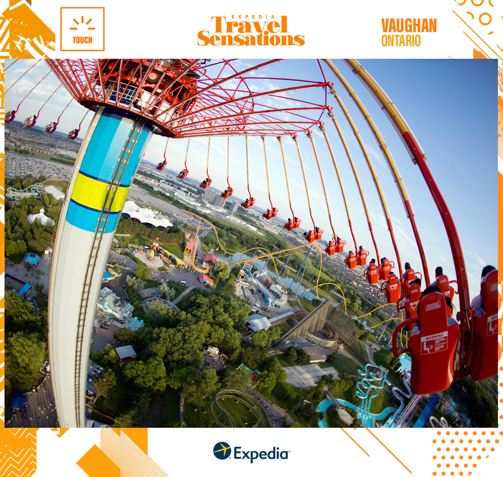 A towering ride at Canada's Wonderland in Vaughan, Ontario, which will give you goosebumps