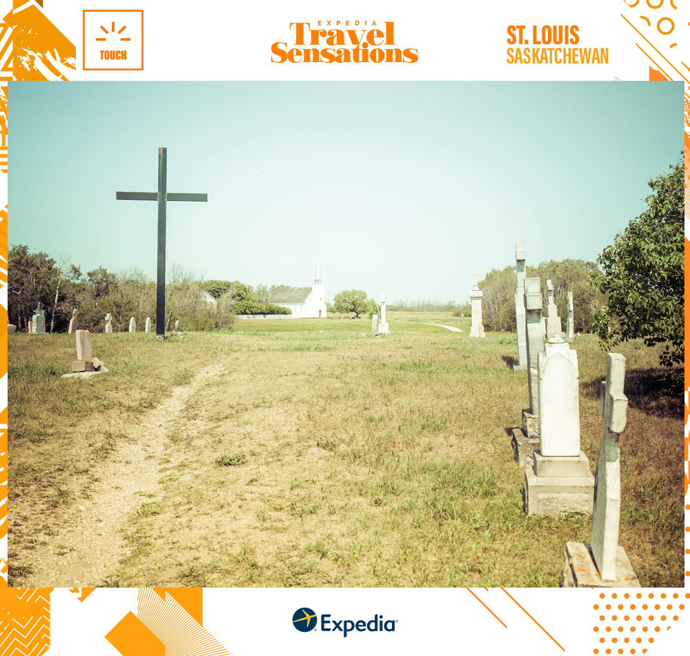 A cemetery in Batoche National Historic Site--a rumored haunted Canadian destination