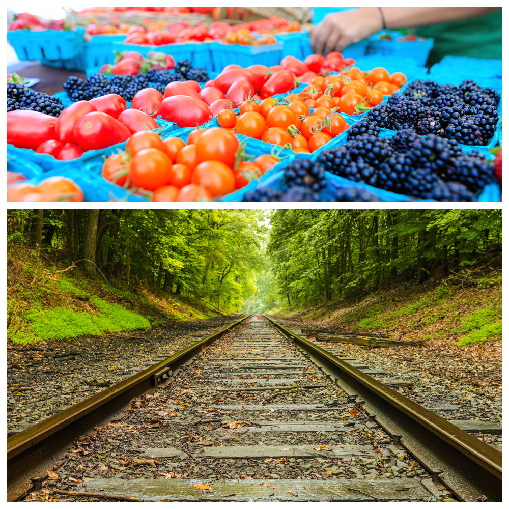 Railroads and farmers markets inspired by St. Thomas, Ontario