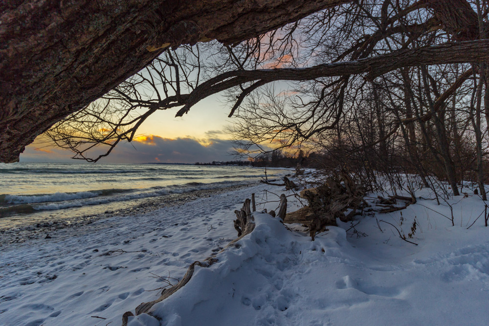 Frozen landscape of Ajax, Ontario, a top Canadian winter destination