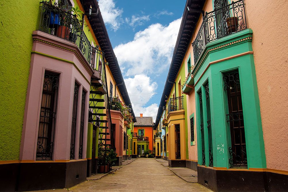 Colourful buildings in Bogota, one of the best cities to visit in 2019