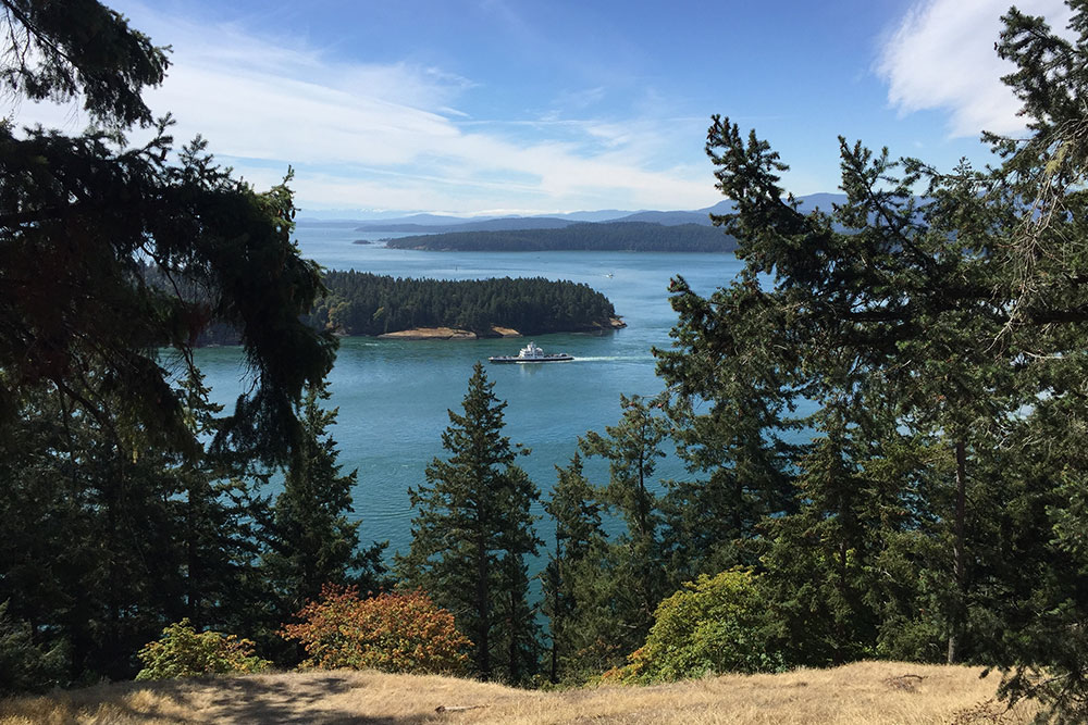 Seaside views of the Gulf Islands, British Columbia--top destinations of 2019
