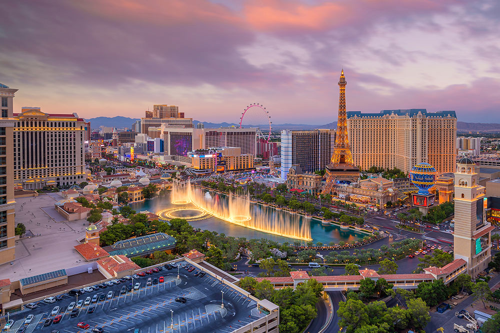 Grand view of Las Vegas, one of the best places to visit in 2019