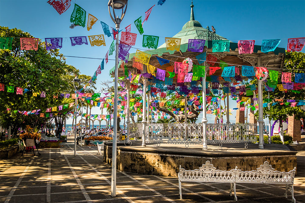 Main square of Puerto Vallarta, Mexico, one of the best places to visit in 2019