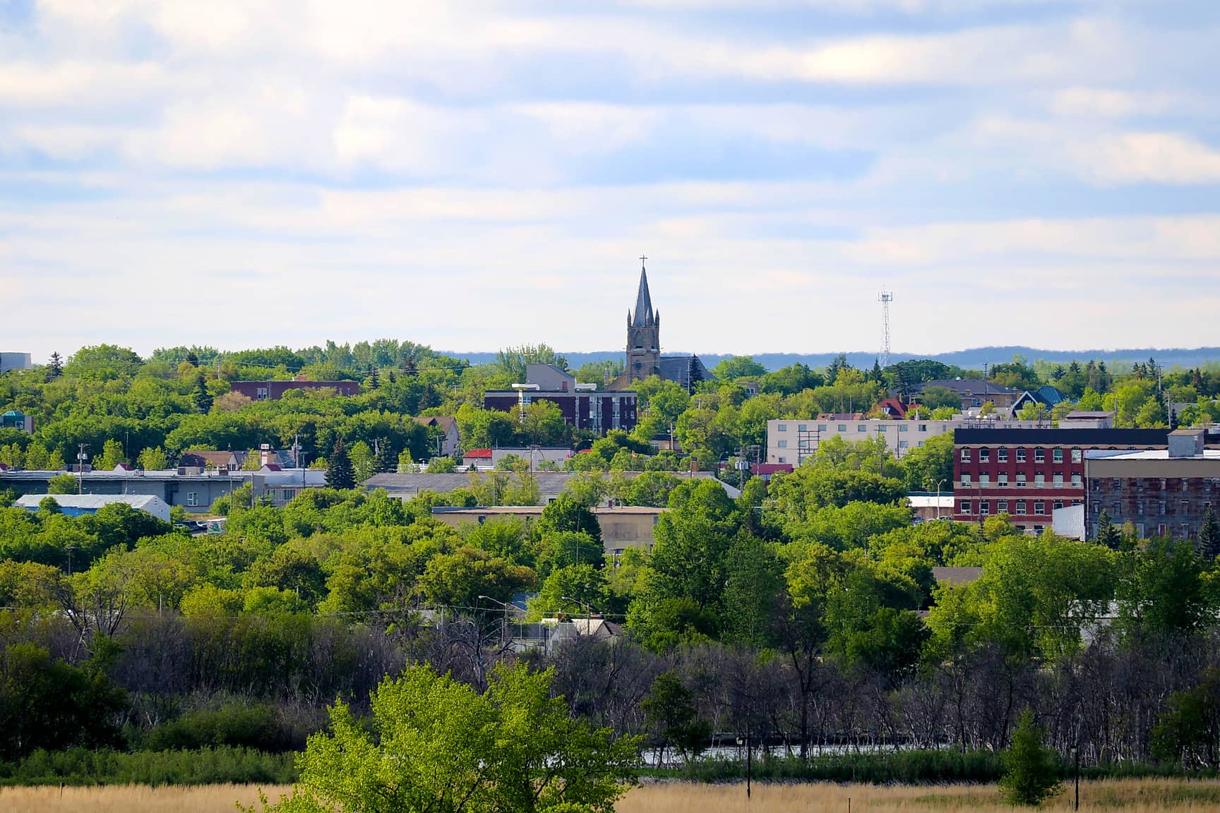 View of downtown Brandon, Manotiba, a best place to visit in 2019