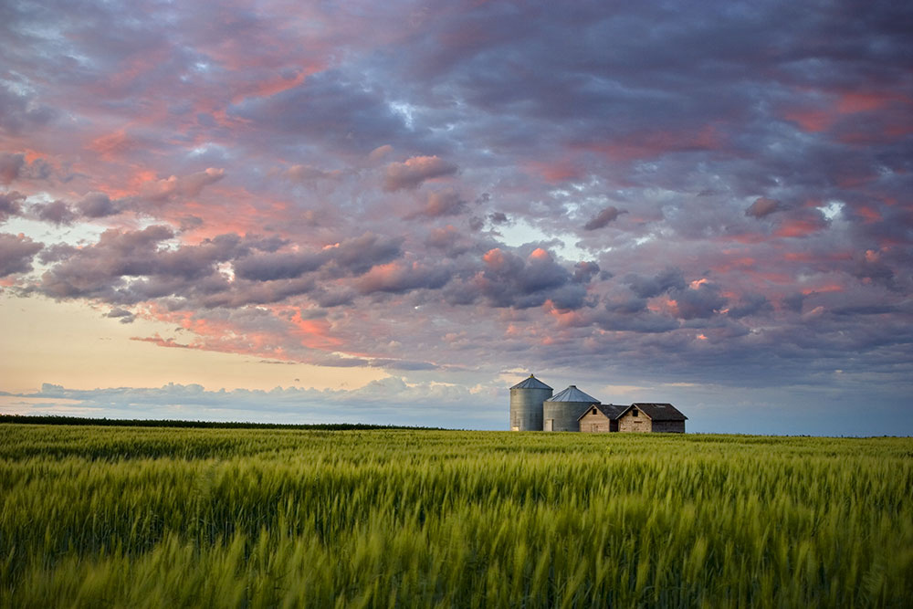 Sunset over Dauphin, Manitoba--a top city to visit in 2019