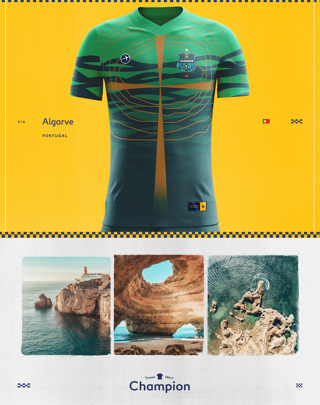 algarve portugal inspired a soccer jersey design