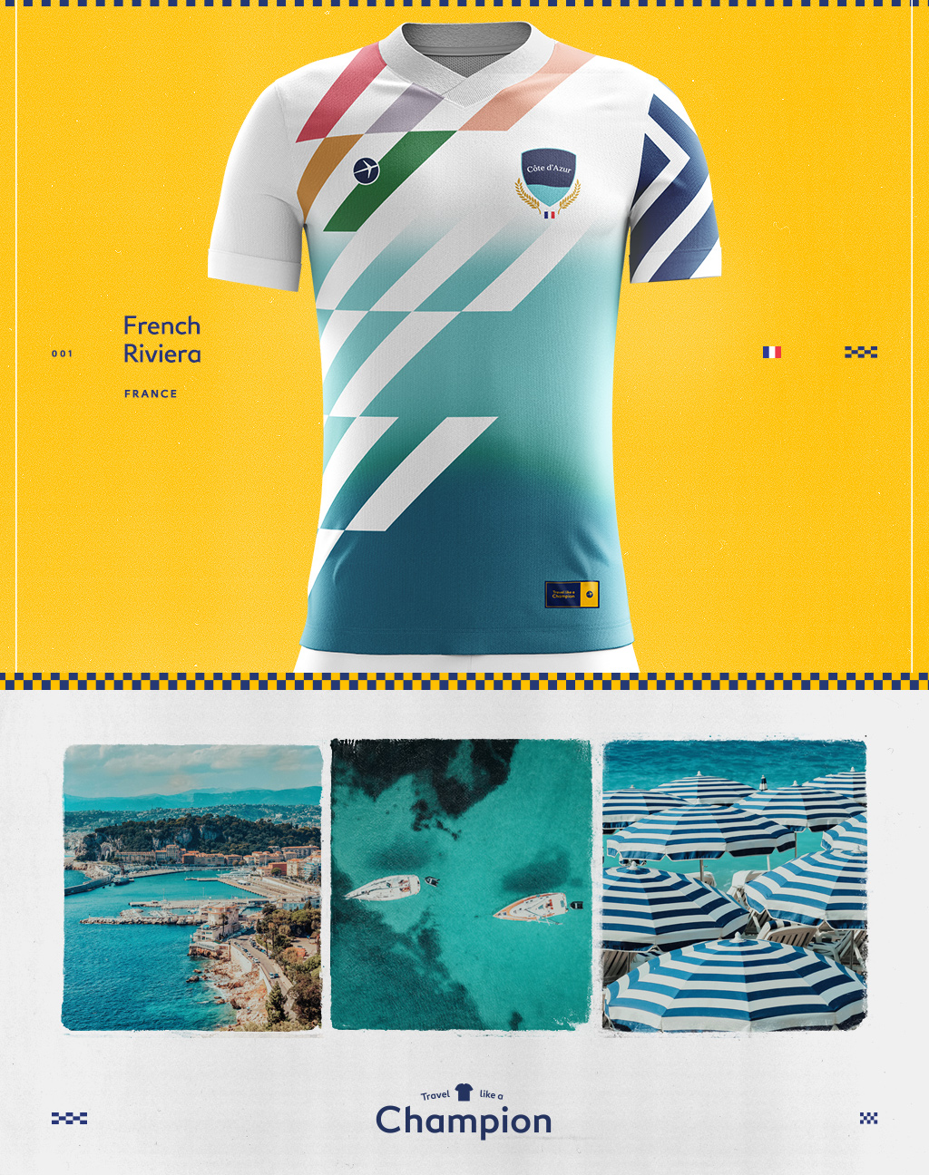 soccer jersey design inspired by pictures of the cote d'azur