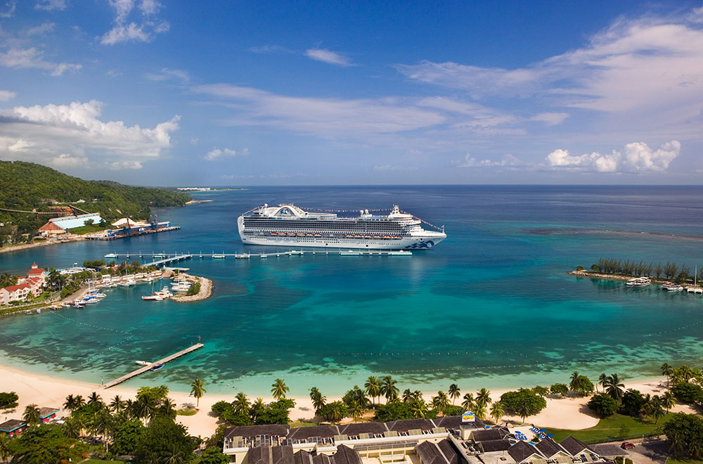The Crown Princess in Jamaica
