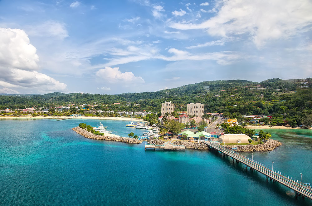 The cruise port of Ocho Rios