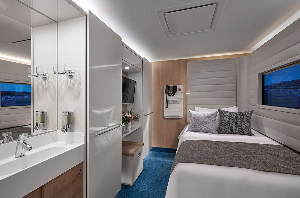 The Norwegian studio stateroom for solo travelers