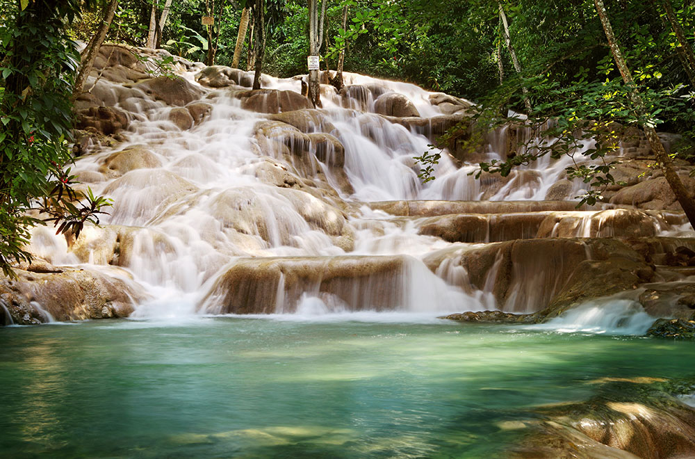 Dunn's River Falls, major Caribbean tourist attraction