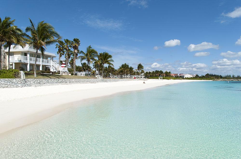 Lucaya, a beautiful white sandy beach in Bahamas