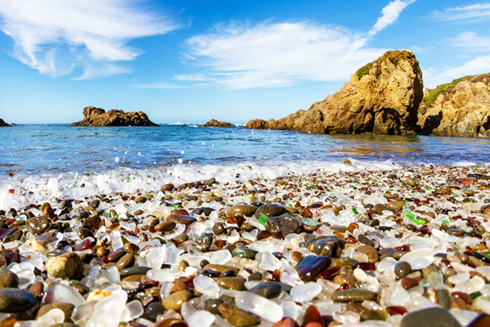 glass beach best beaches