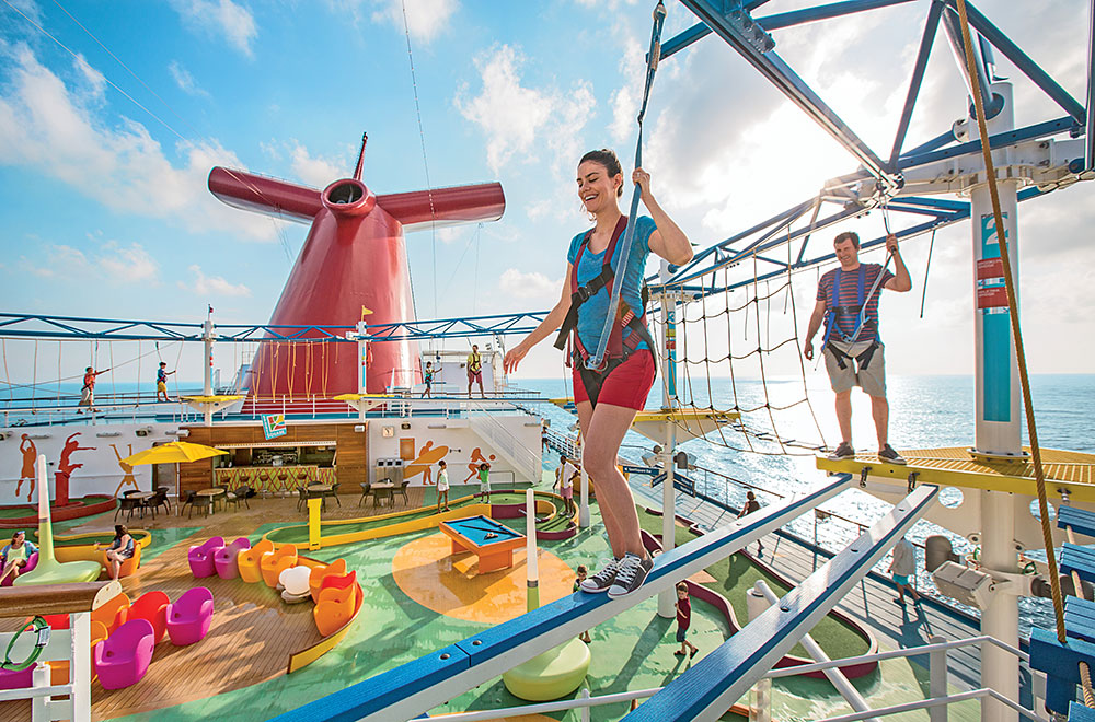 Amazing onboard activities in Carnival ship