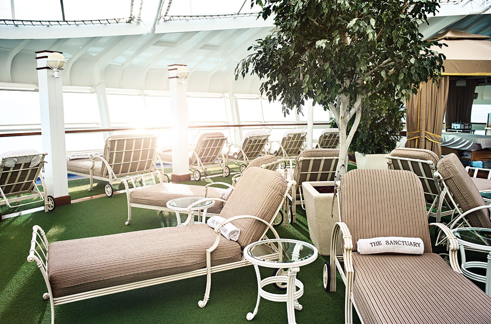 A relaxation experience at Princess Cruises