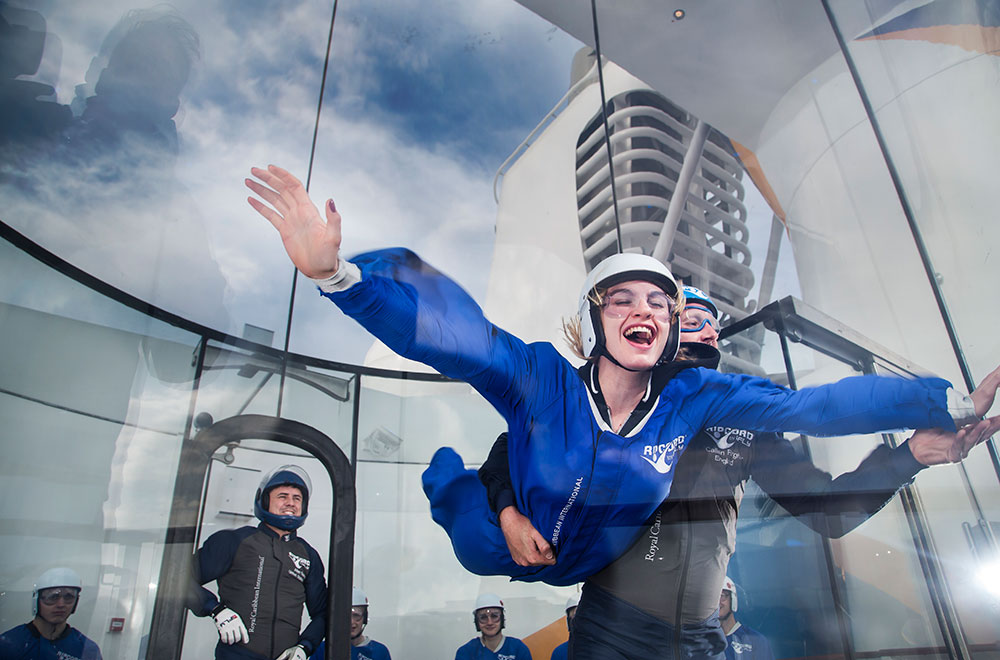 Skydiving simulator a great activity for first time cruisers