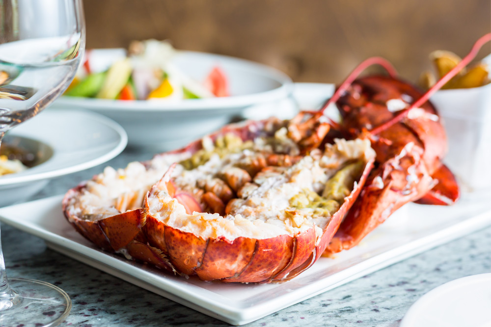 Cracked up lobster, one of the best meals to have on a bachelor party weekend in Montreal