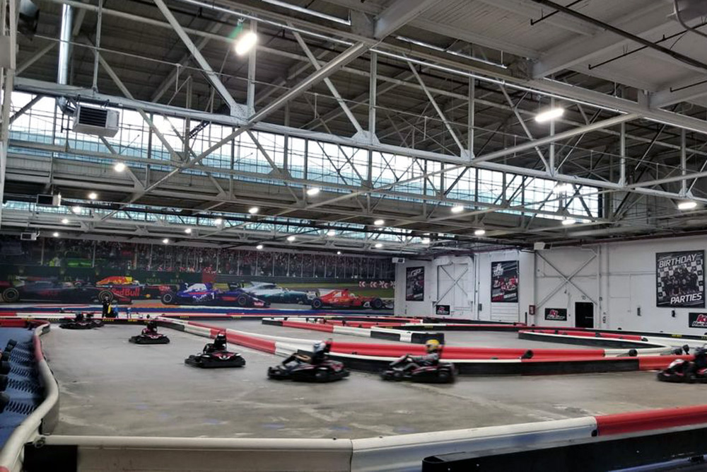 Go-kart racing, one of the top things to do during a bachelor party in Toronto