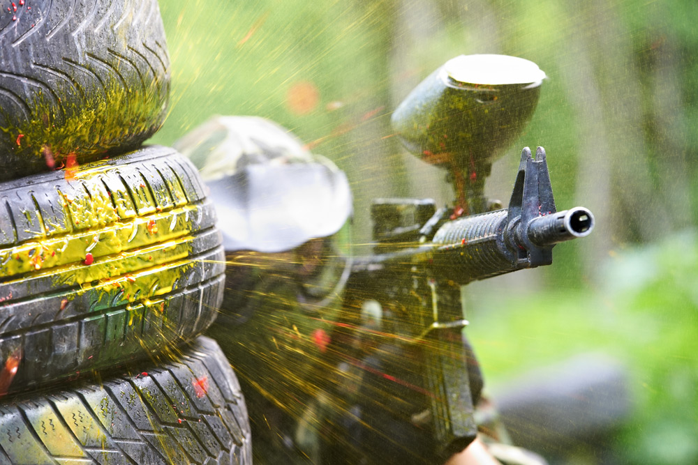 Man is nearly hit in paintball, a top activity for a bachelor party