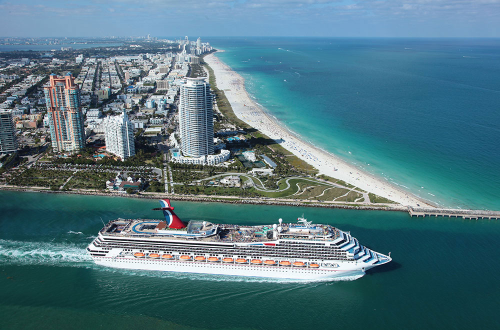 Carnival Glory sails to the Bahamas from the Port of Miami