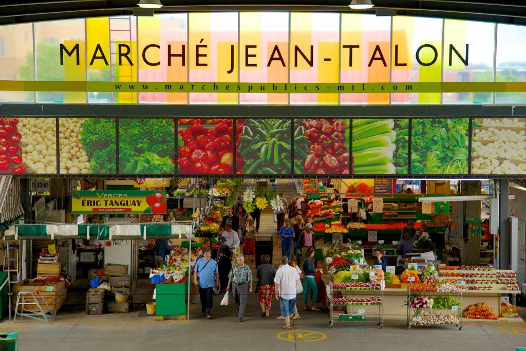 Colorful entrance to Jean-Talon Market