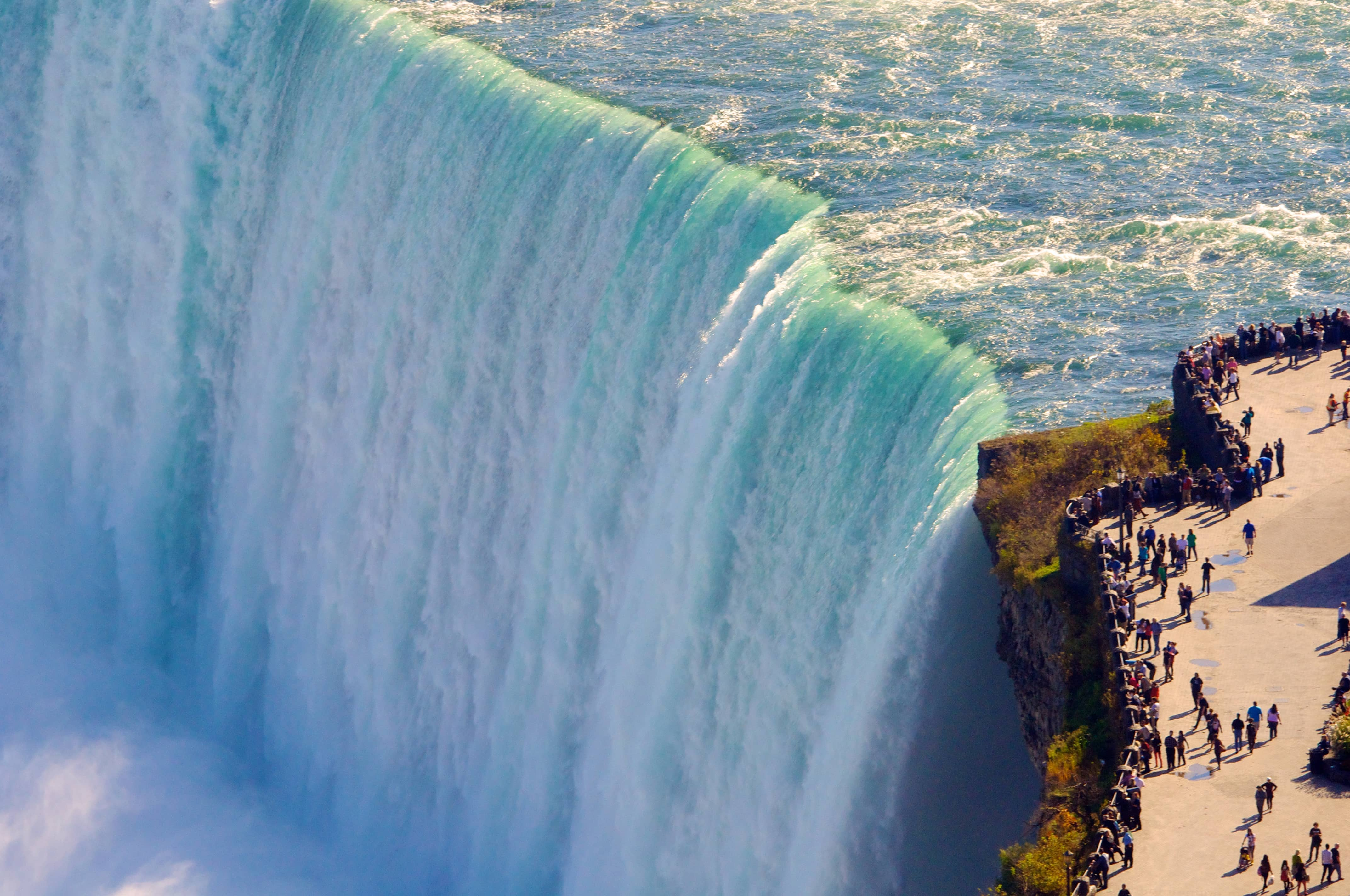 Areial view of Horseshoe Falls at Niagara Falls