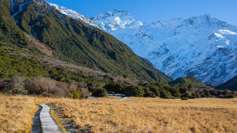 Landscape of South Island in New Zealand