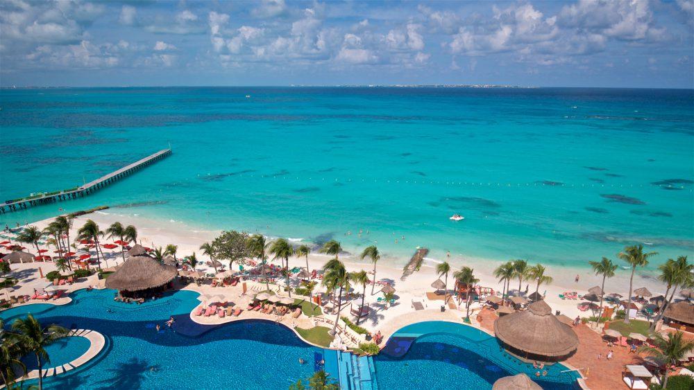 Aerial image of beach area at Grand Fiesta Americana Coral Beach, Cancun