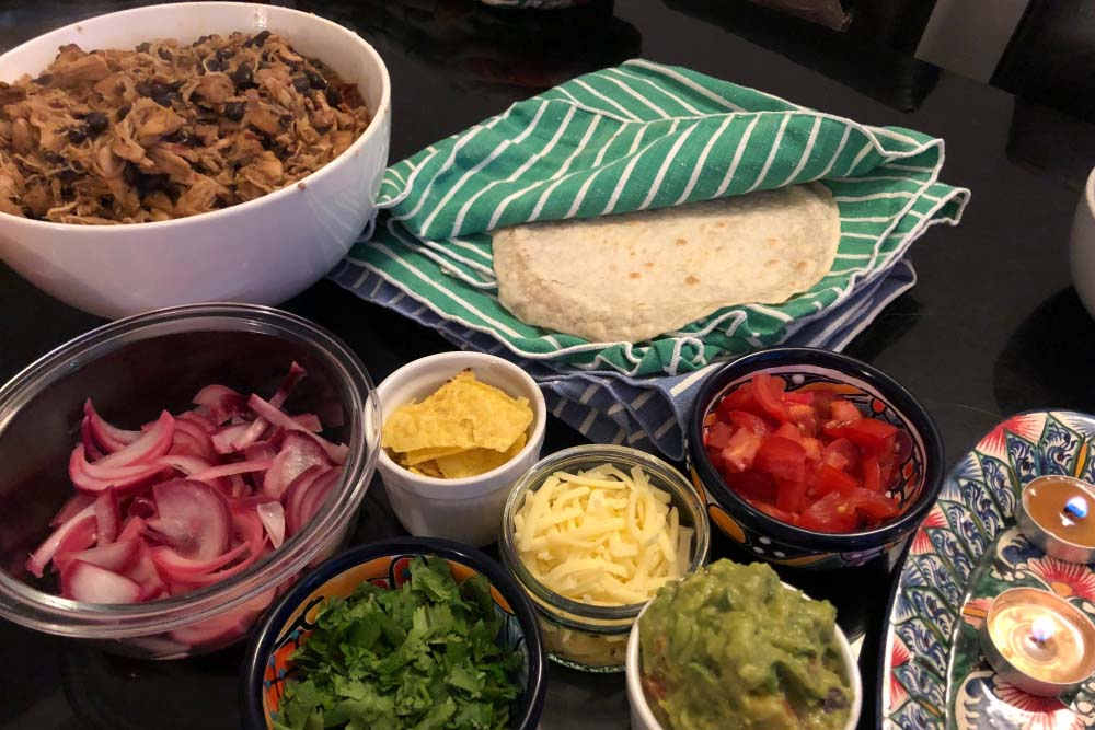 Flour tortillas and tacos al carbon from Texas