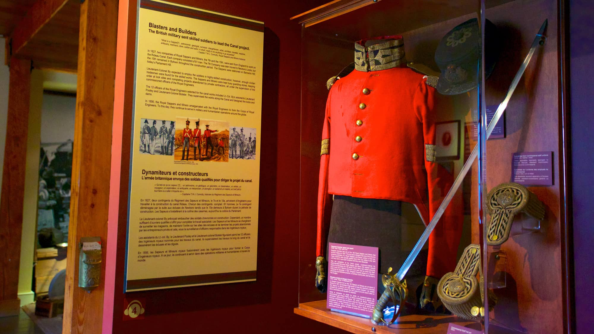 Military uniform in the Bytown Museum in Ottawa, Canada