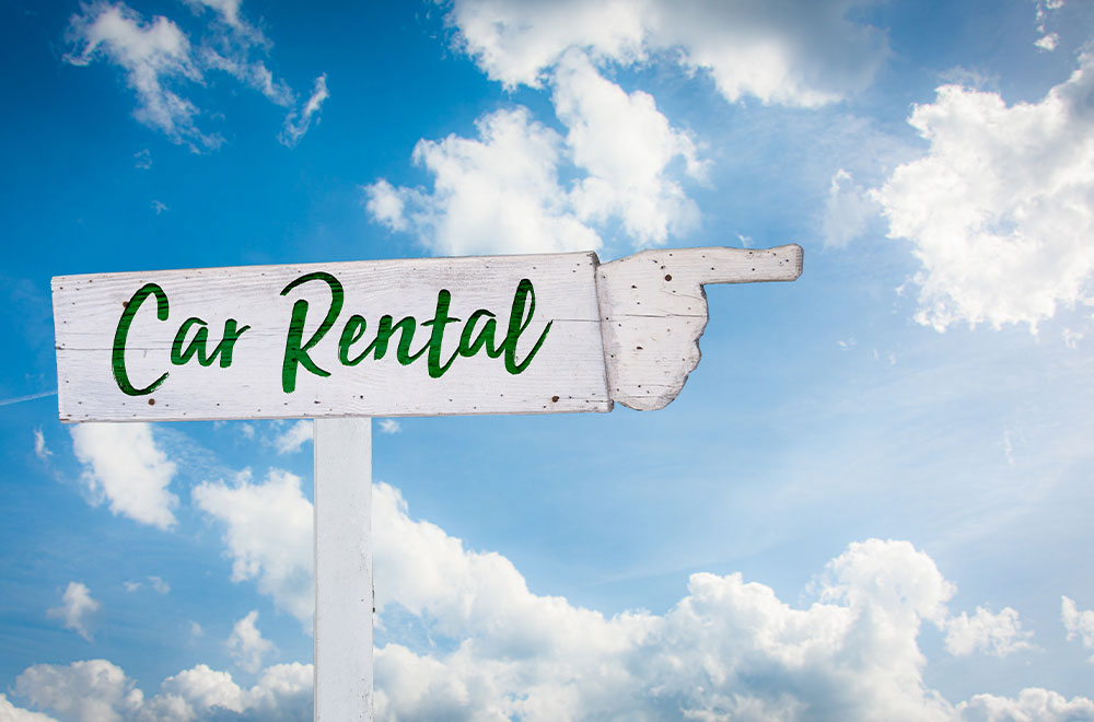 Car rental is a good option for self-cruise excursions