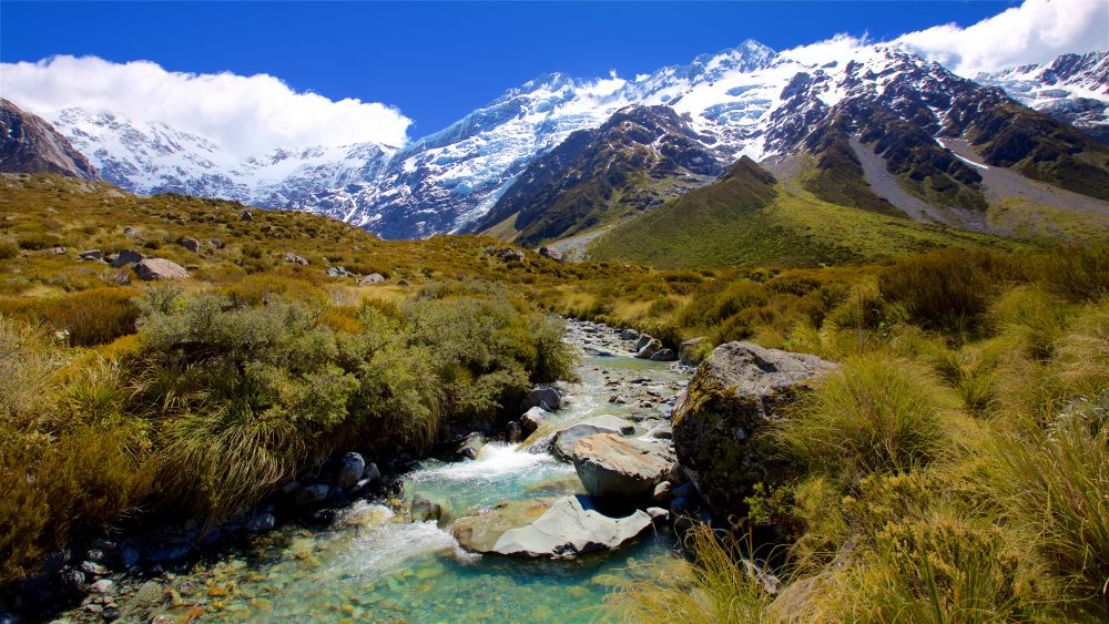 Landscape of Hooker Valley Track in Canterbury